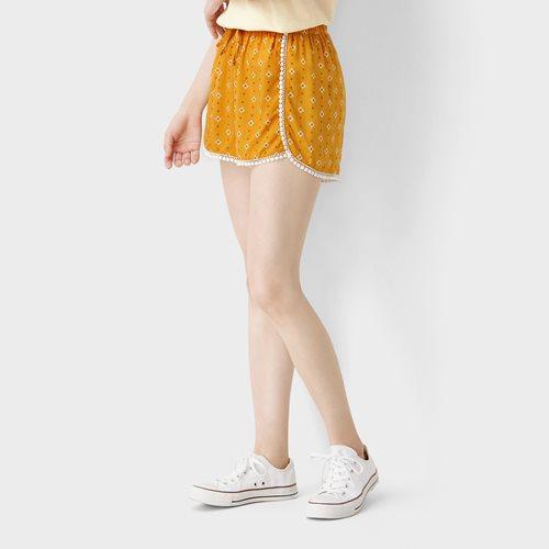 嫘縈印花短褲-女