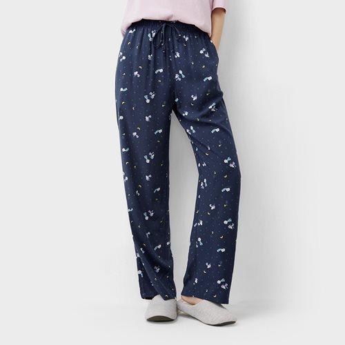 史努比系列嫘縈印花長褲-女