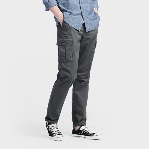 棉質直筒工作褲-男