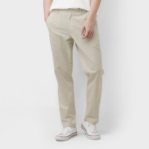 棉麻長褲-男