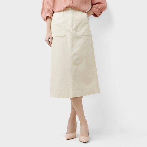 棉質鬆緊工作裙-女