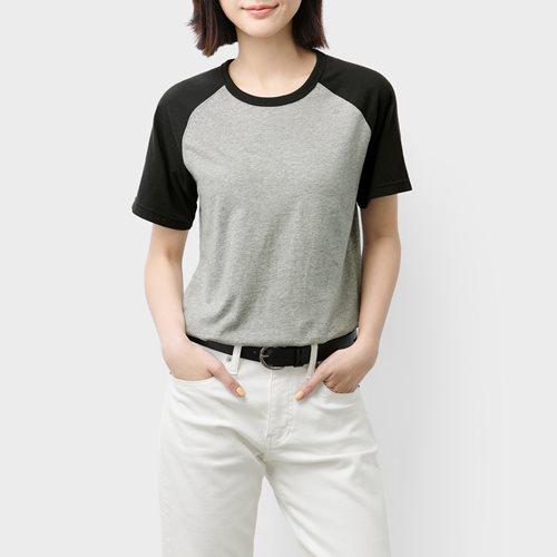 純棉拉克蘭袖T恤-女