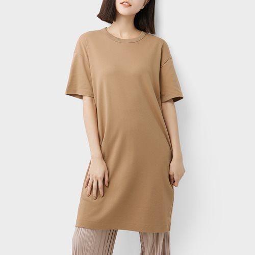 純棉厚實圓領洋裝-女