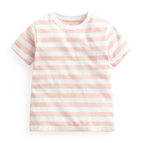 純棉條紋圓領T恤-童