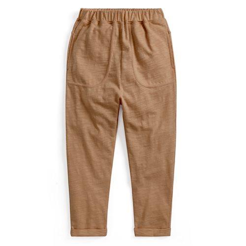 竹節棉口袋長褲-童