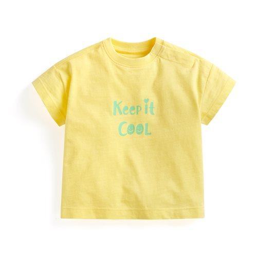 竹節棉文字寬鬆T恤-Baby