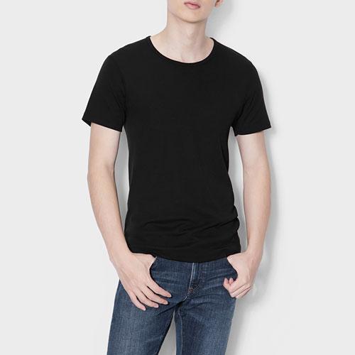 無側縫圓領T恤(2入)-男