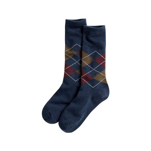 菱格紋長襪-男