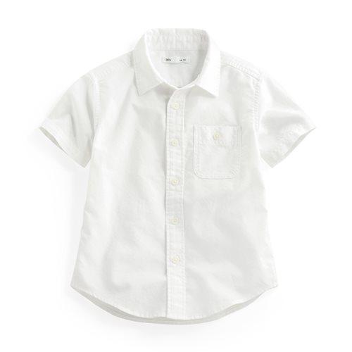 牛津短袖襯衫-童