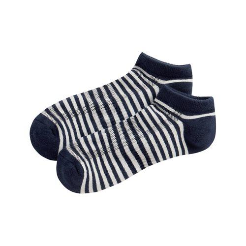 毛圈條紋踝襪-男