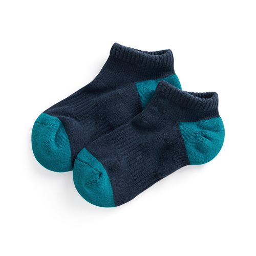 配色踝襪-童