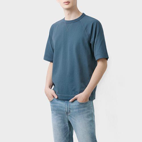 粗紡拉克蘭袖T恤-男