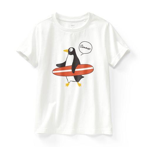 企鵝印花T恤-童
