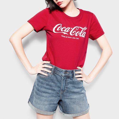 可口可樂印花T恤-01-女