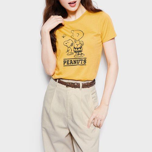 史努比系列印花T恤-15-女