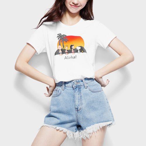 史努比系列印花T恤-23-女