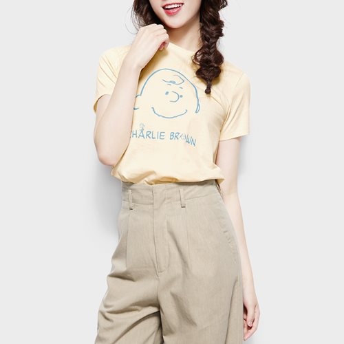 史努比系列印花T恤-19-女