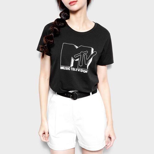 MTV印花T恤-01-女