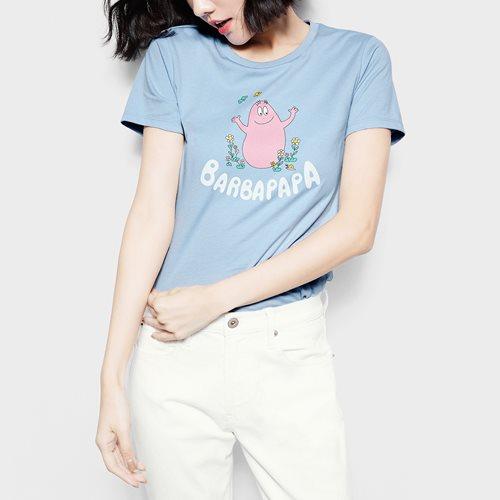 BARBAPAPA印花T恤-01-女