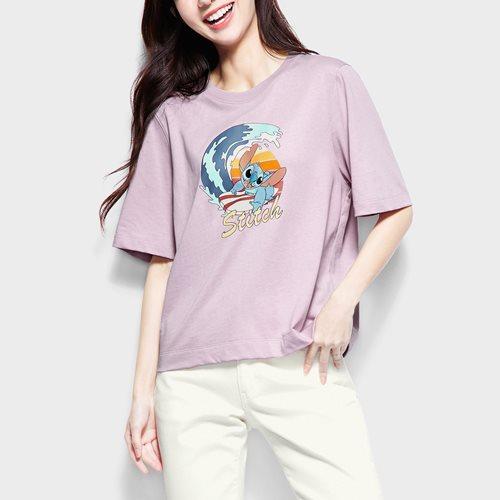 迪士尼系列寬版印花T恤-22-女