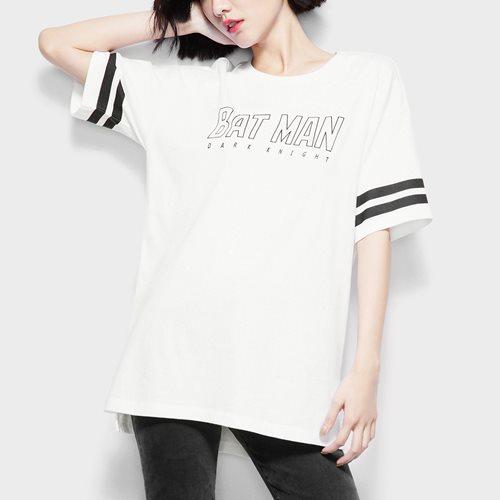 Batman寬長版印花T恤-06-女