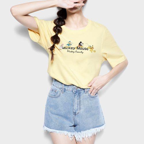迪士尼系列寬版印花T恤-23-女