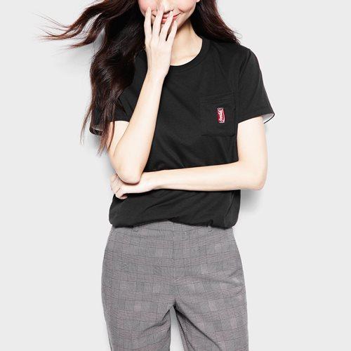 可口可樂口袋印花T恤-12-女