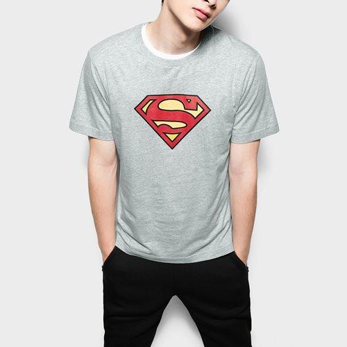 Superman印花T恤-01-男