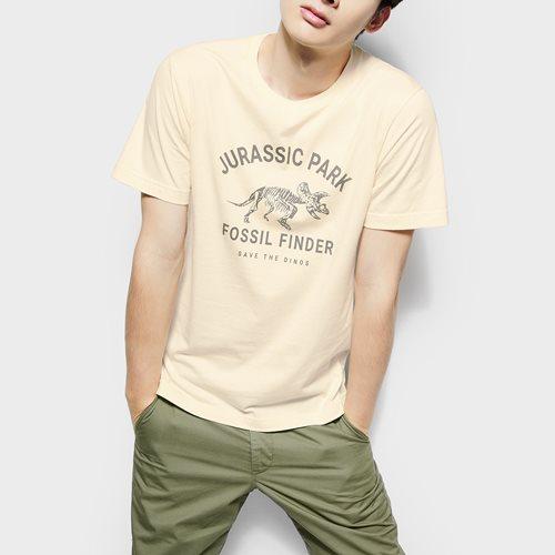 Jurassic World印花T恤-05-男