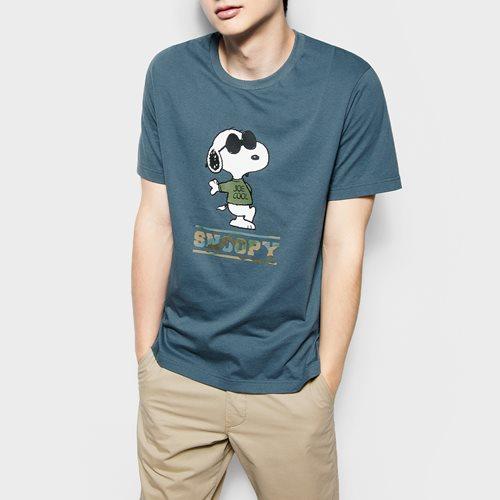 史努比系列印花T恤-06-男