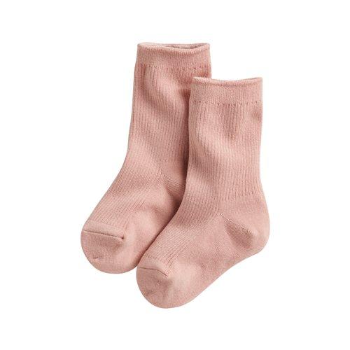 素色中筒襪-童