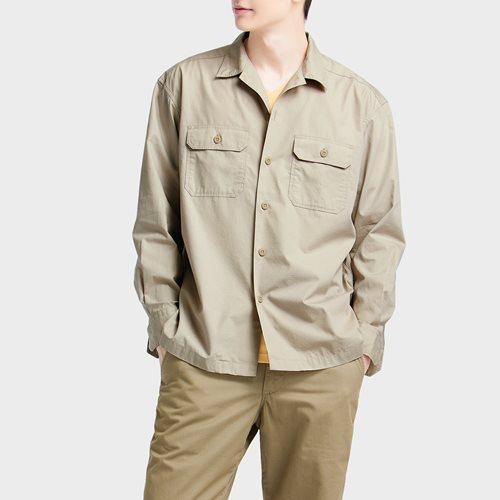 寬版工作襯衫-男
