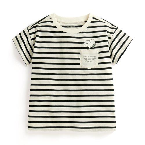 史努比系列竹節棉口袋T恤-童