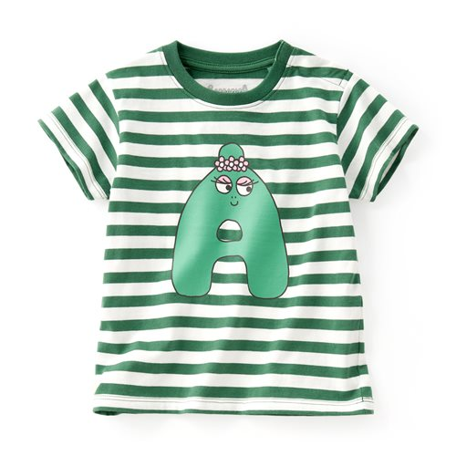 BARBAPAPA條紋印花T恤-10-Baby