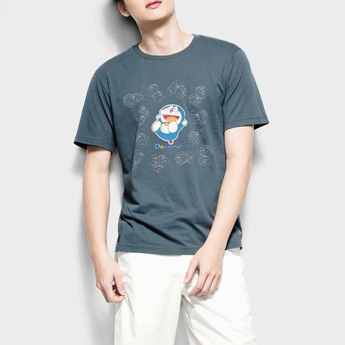 哆啦A夢印花T恤-15-男
