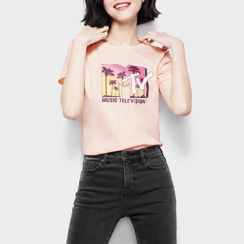 MTV印花T恤-03-女
