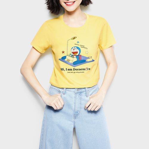 哆啦A夢印花T恤-04-女