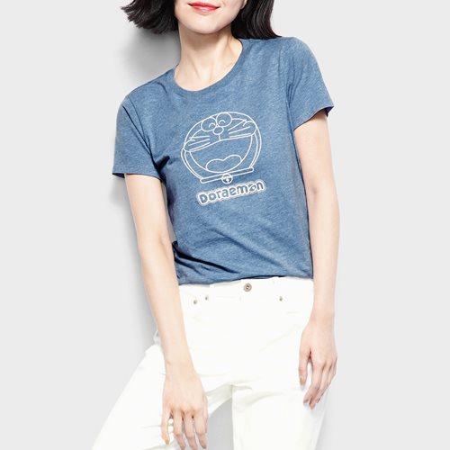 哆啦A夢印花T恤-01-女
