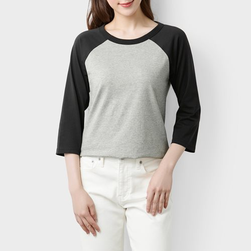 純棉拉克蘭七分袖T恤-女
