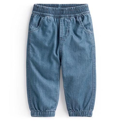 軟牛仔束口褲-Baby