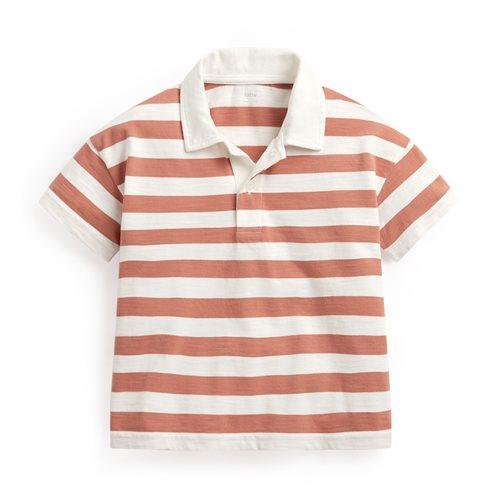 竹節棉條紋polo衫-童