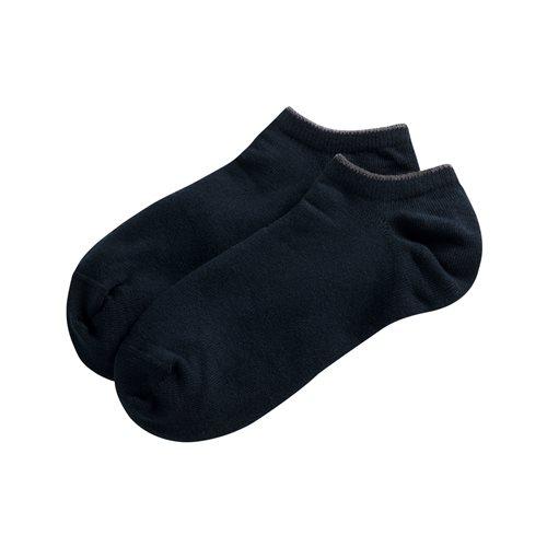 素色配條踝襪-男