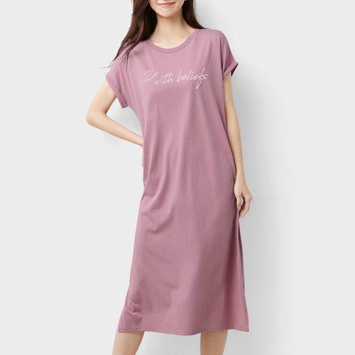 莫代爾文字家居洋裝-女