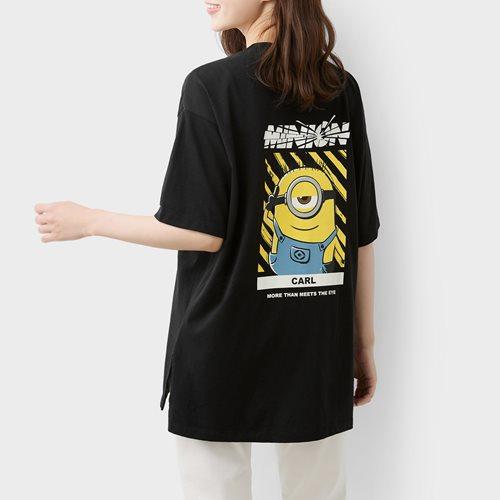 Despicable Me寬長版印花T恤-04-女