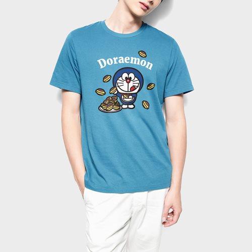 哆啦A夢印花T恤-19-男